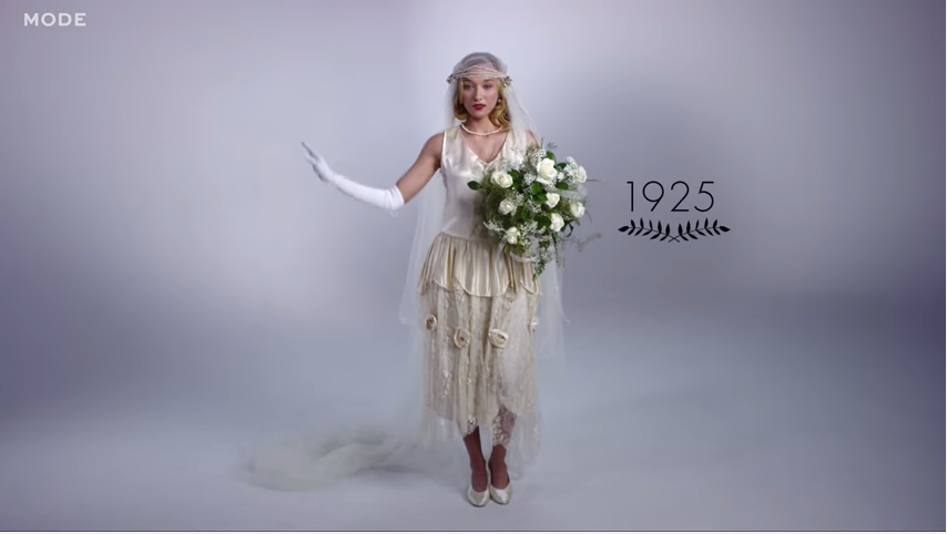 Watch 100 Years of Wedding Dress Trends in Just a Few ...