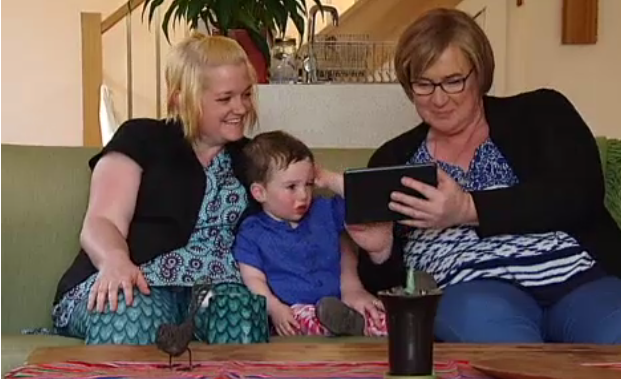 picture of trans woman tina healy with family