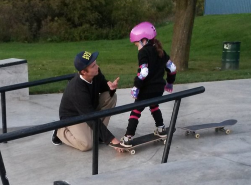 picture of a young girl at skatepark