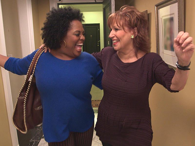 Joy Behar and Sherri Shephard