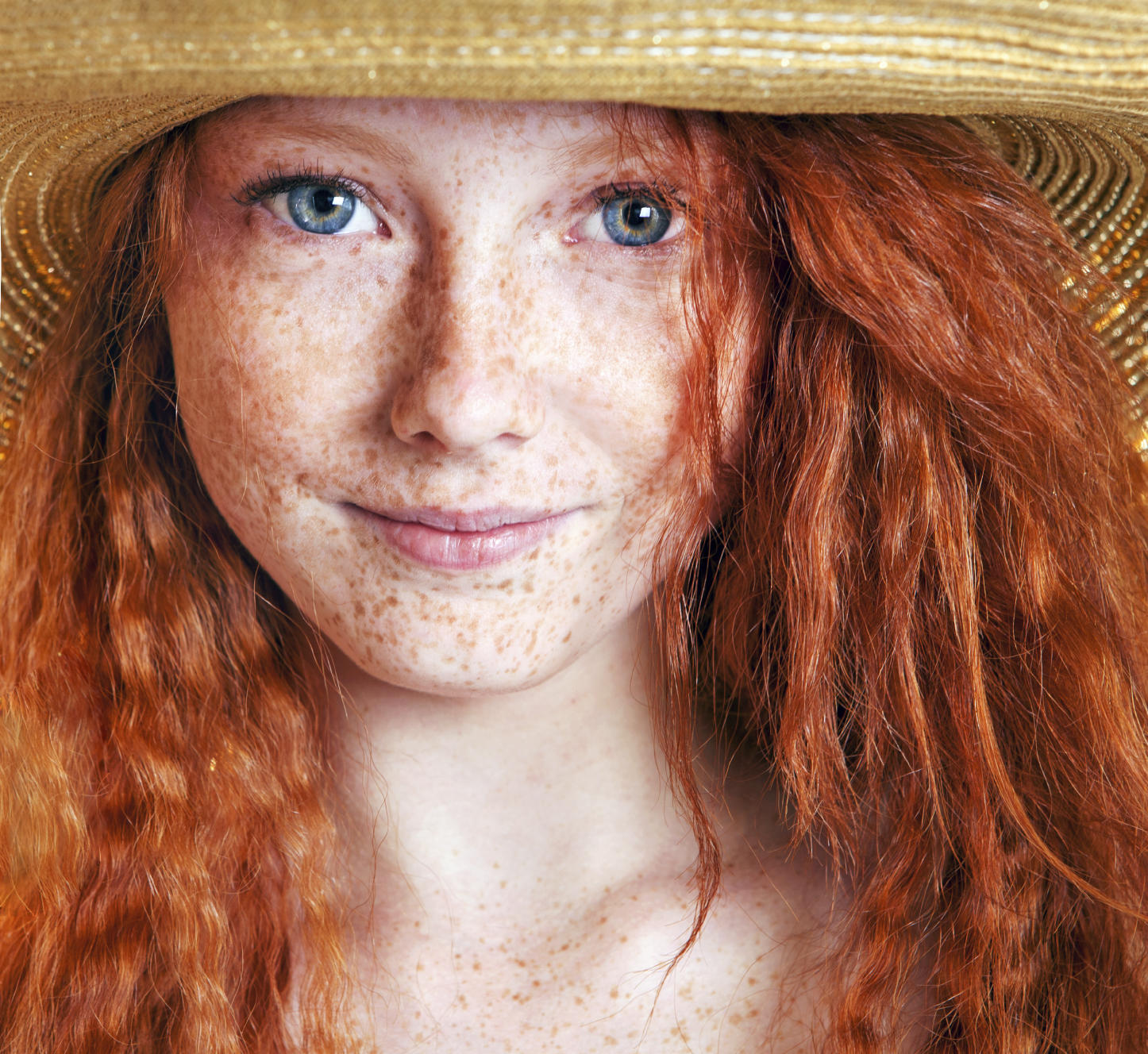 freckles redhead woman