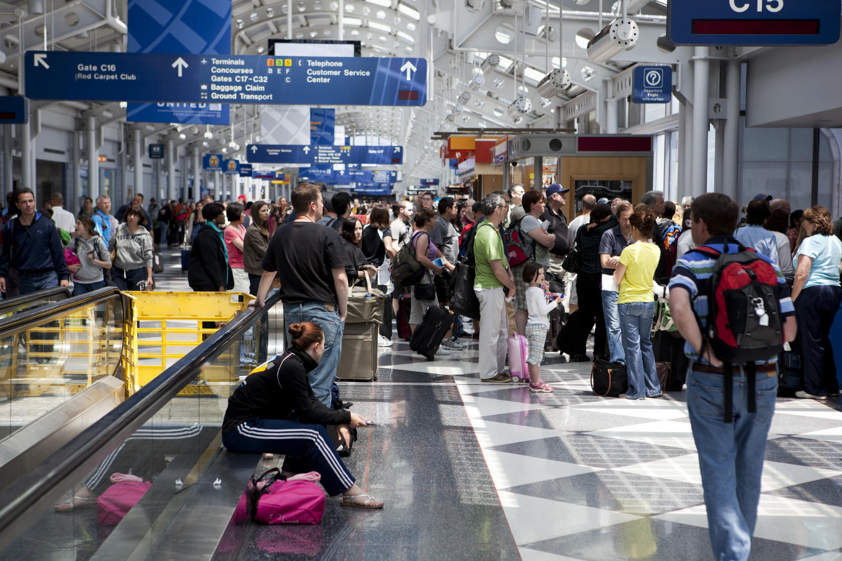 Chicago O'Hare Airport during Summer Travel Season