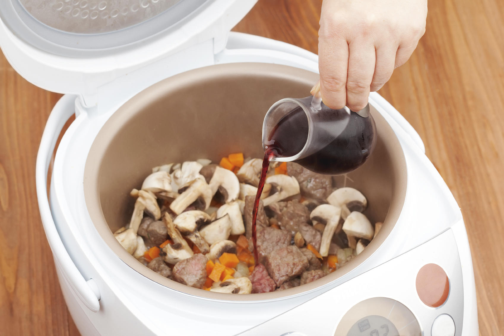 cooking beef stew