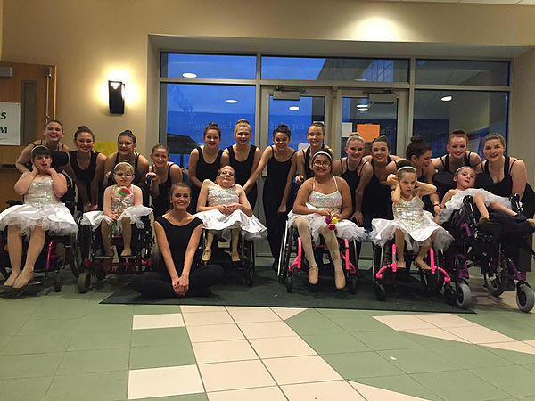 picture of ballerinas in wheelchairs