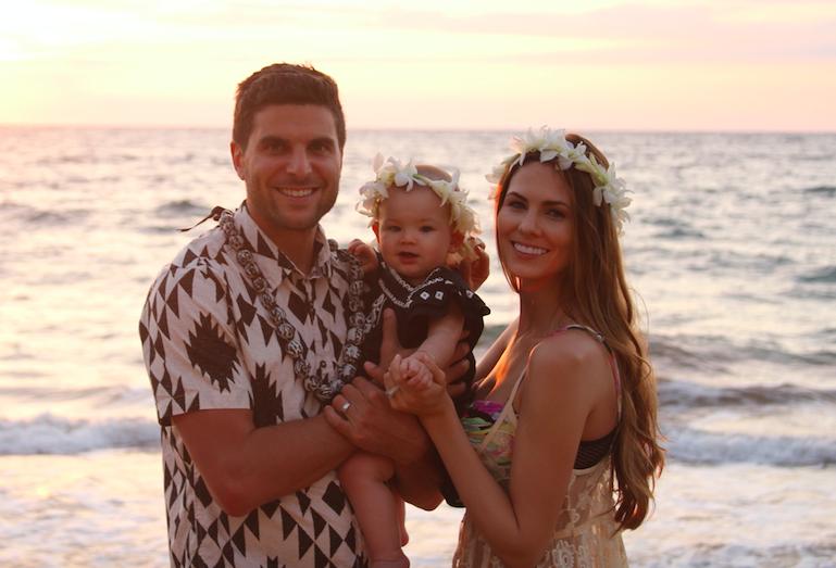 Destiny and Sal with baby Capri