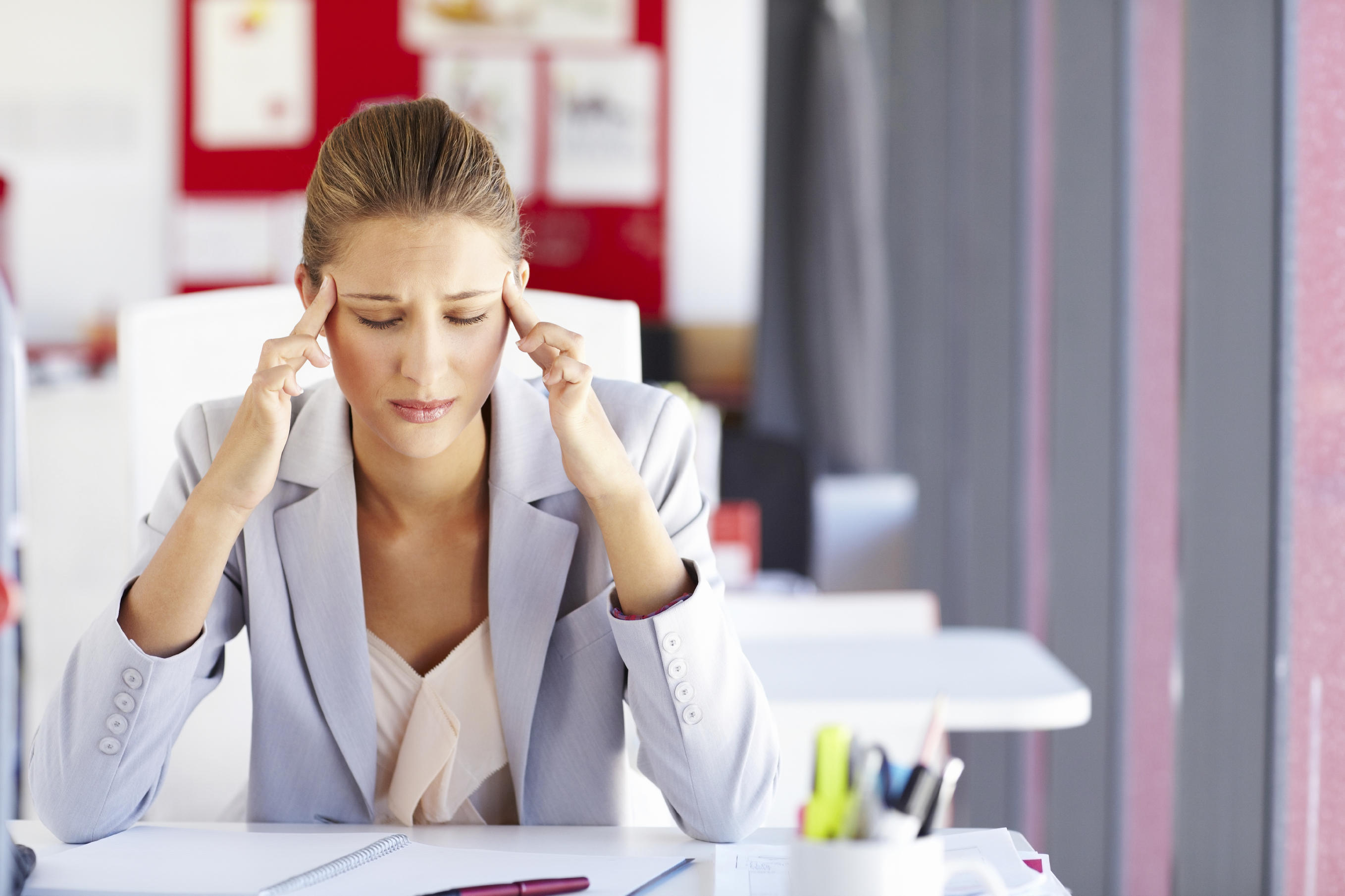 picture of woman with a headache