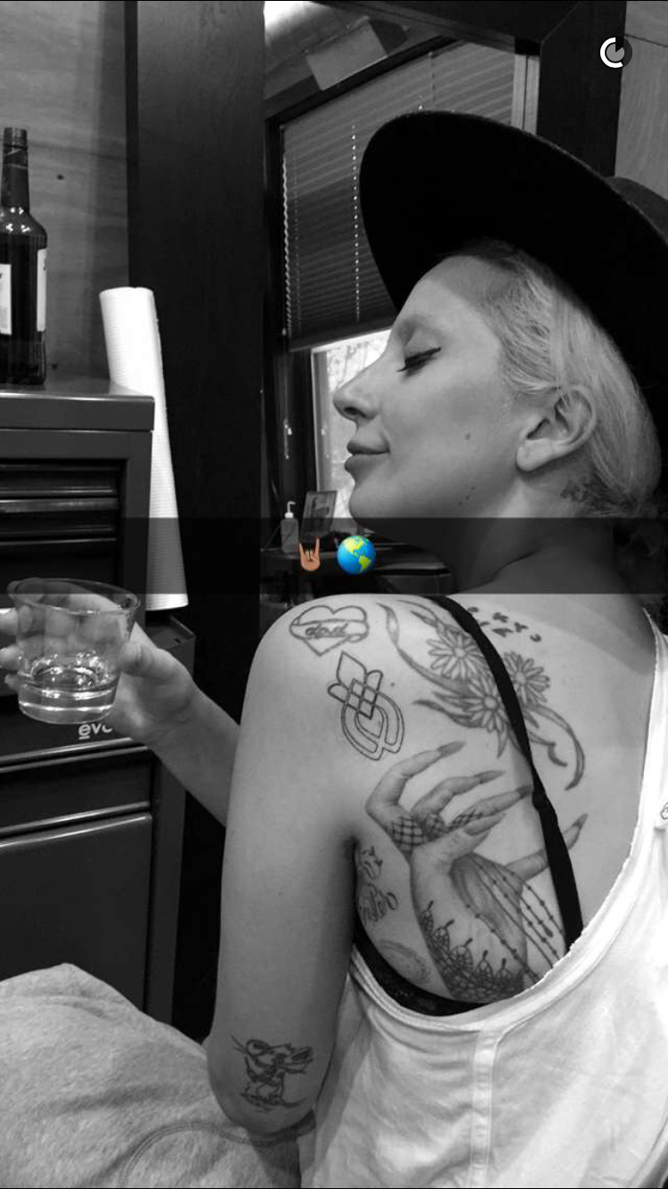 picture of lady gaga tattoo