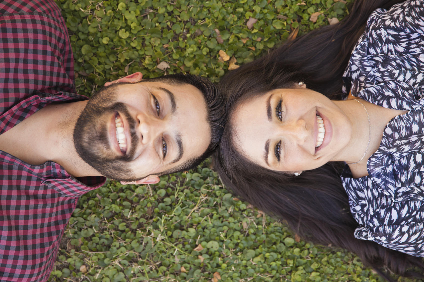 Happy Hispanic couple outdoors
