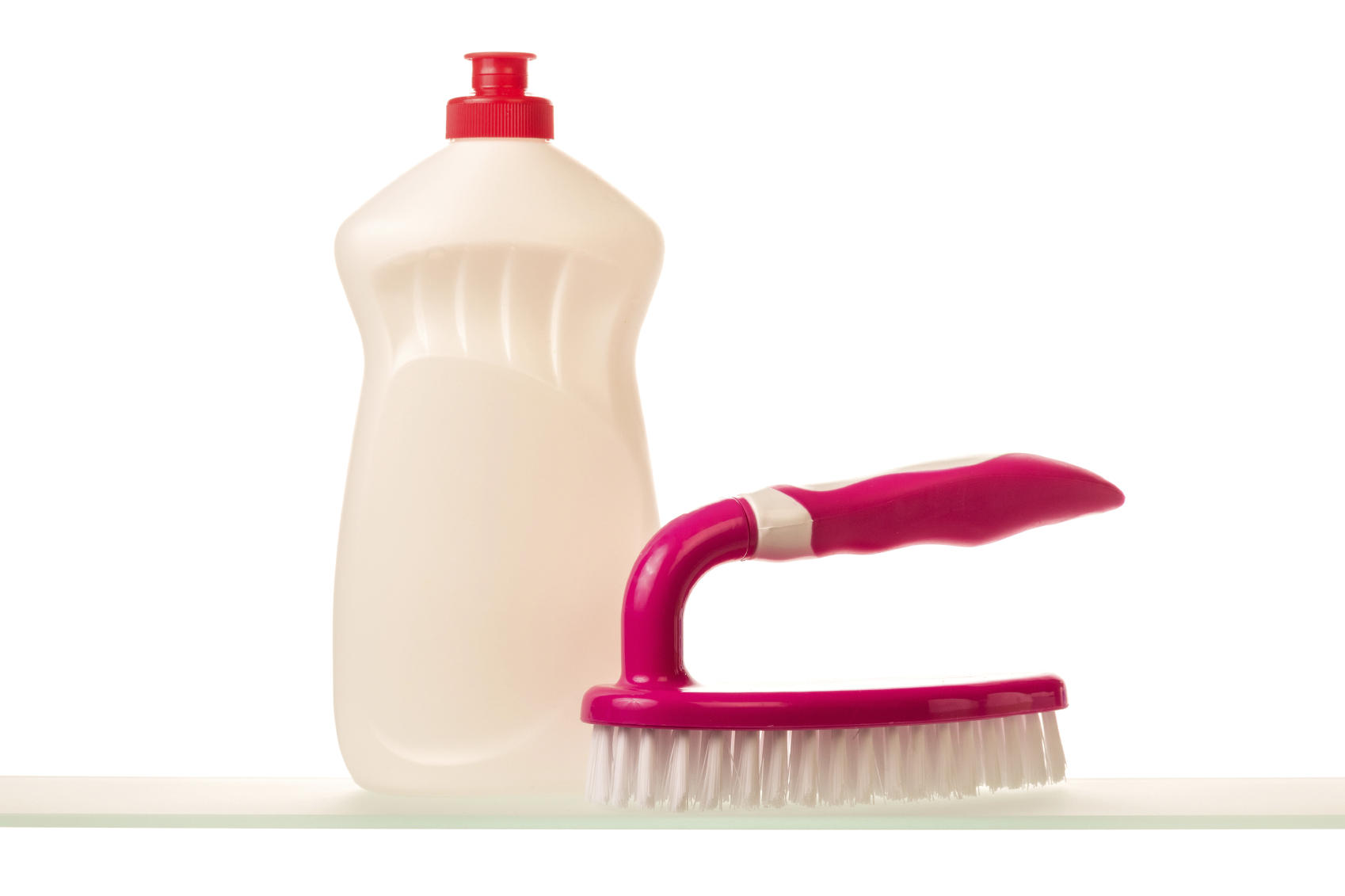 Cleaning product and brush
