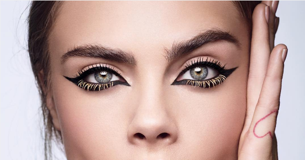 cara delevingne colored mascara