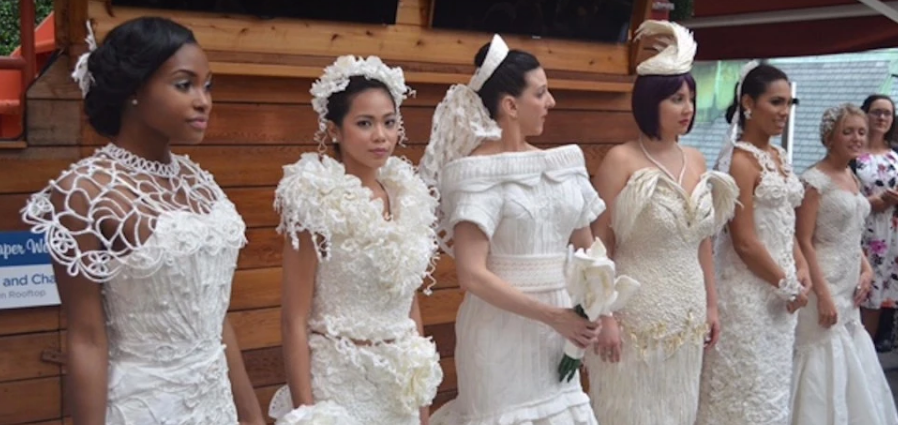 picture of toilet paper wedding dresses