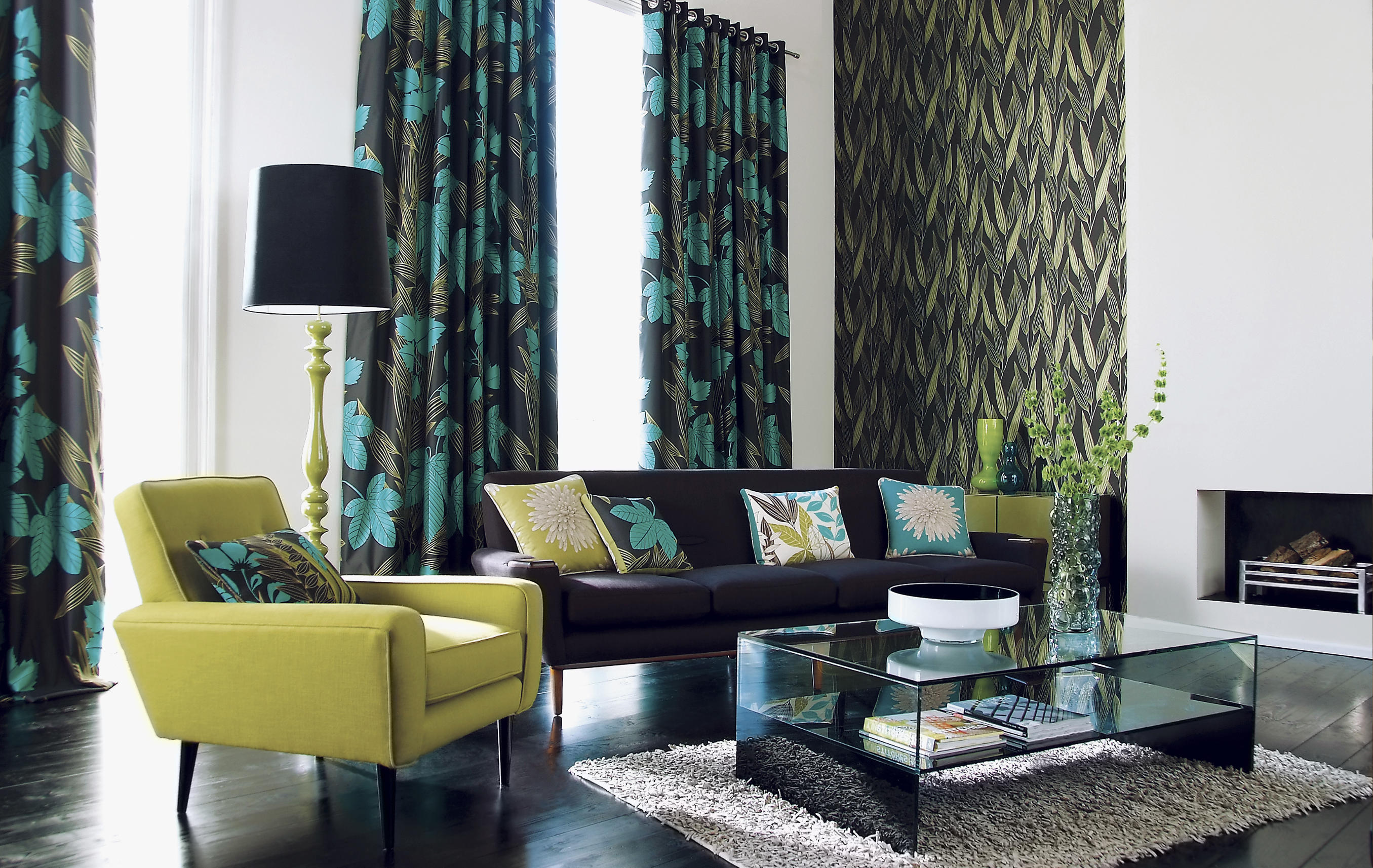 Picture of curtains and stylish home