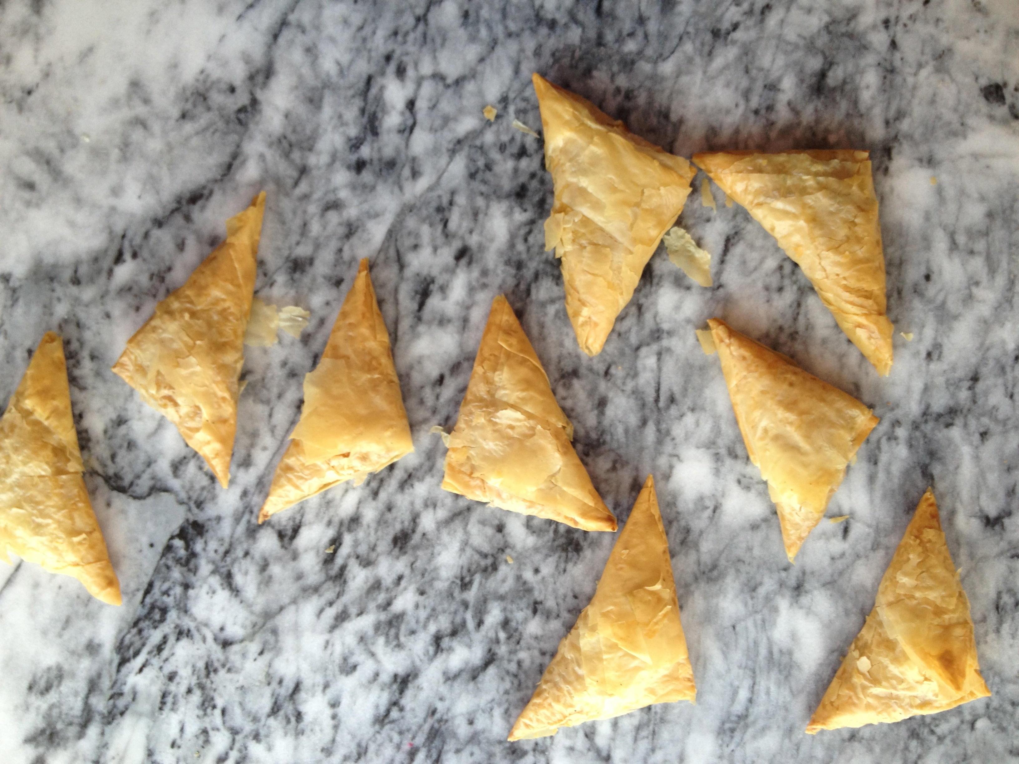 Pumpkin Phyllo Triangles
