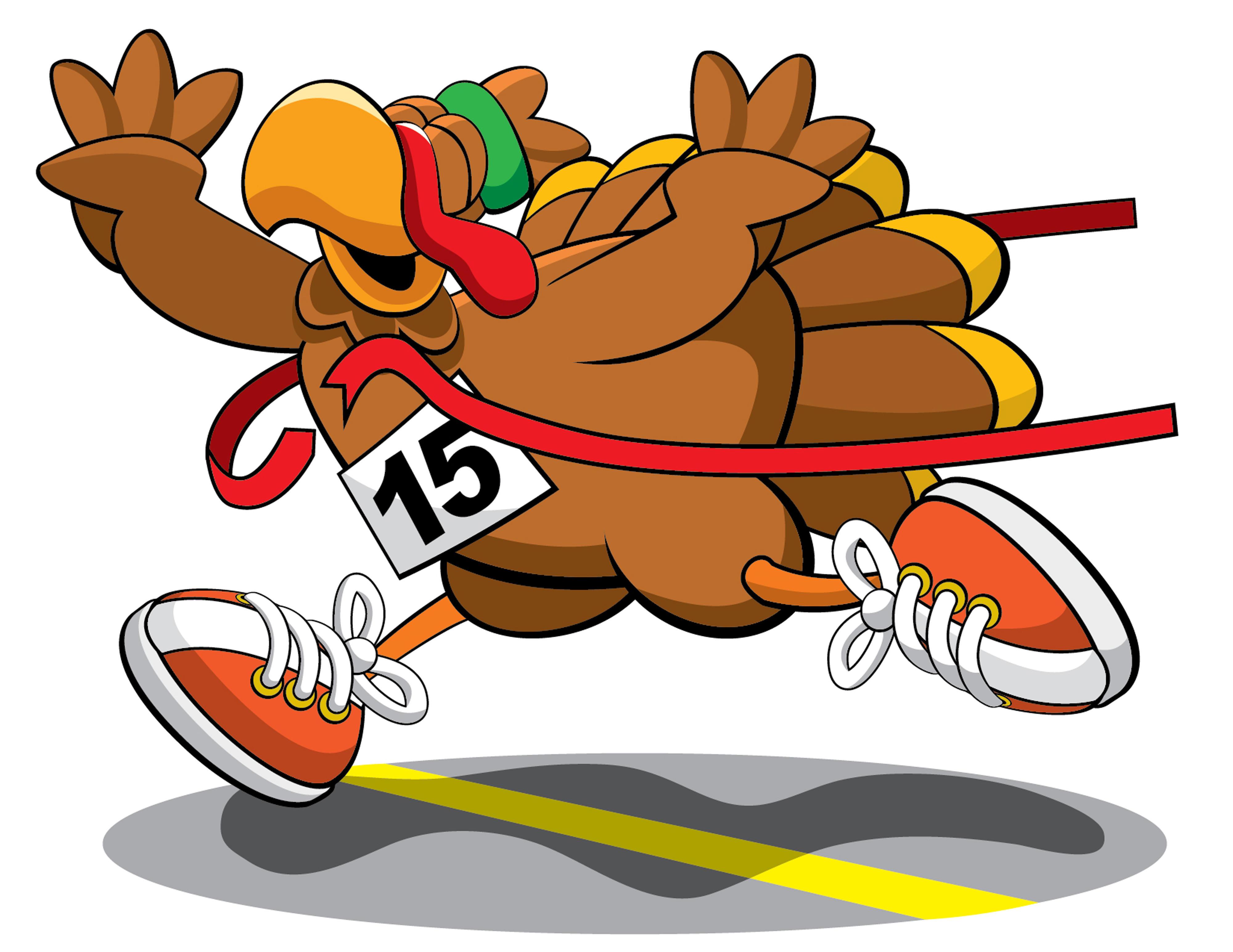 Turkey running for the turkey trot