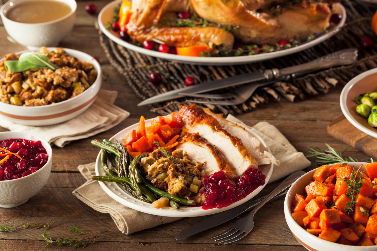 Thanksgiving Plate of Food