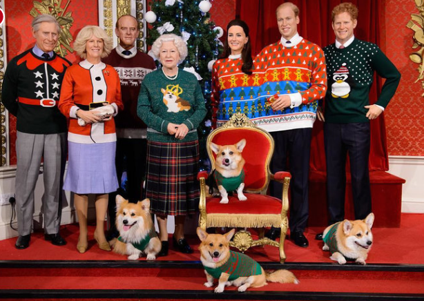 The Royals in Ugly Sweaters