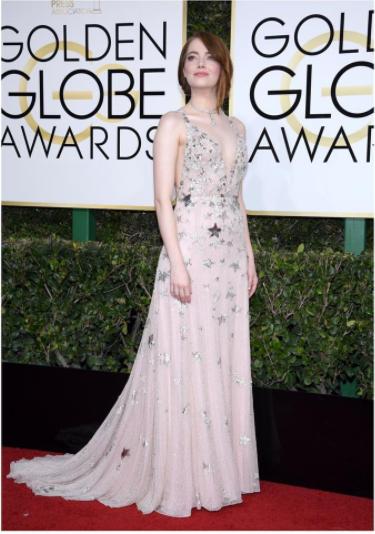 2017 Golden Globes Emma Stone
