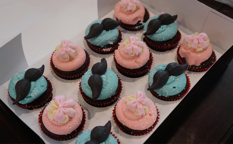 Maddie and Caleb's Gender Reveal Cupcakes