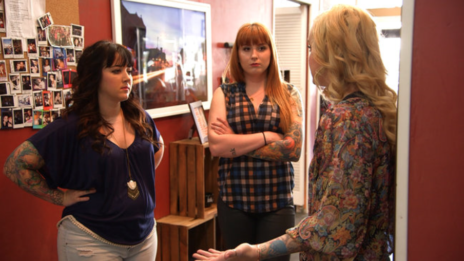 Tattoo girls season 1 tattoo girls tlc for Tv show with tattooed woman