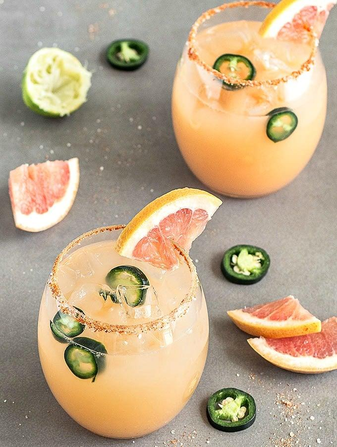 Spicy Grapefruit Margs