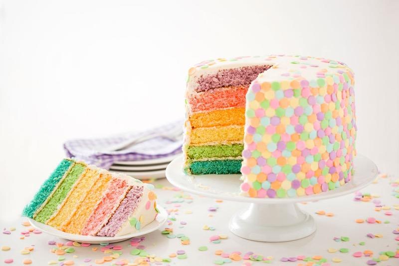 Pastel Confetti Cake
