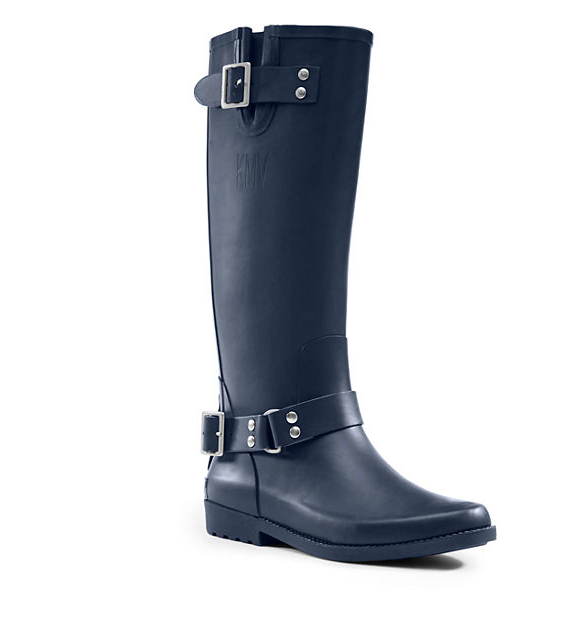 Black Rainboot with Buckles