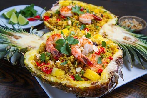 Pineapple shrimp bowl