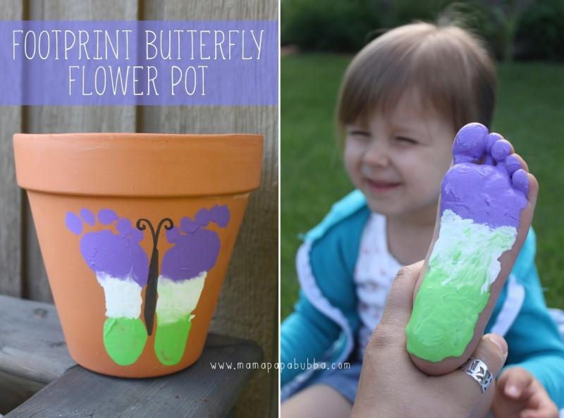 Footprint butterfly pot