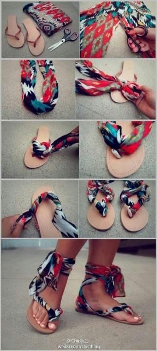 patriotic gladiator sandals