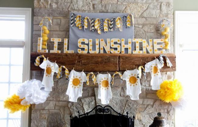 sunshine baby shower