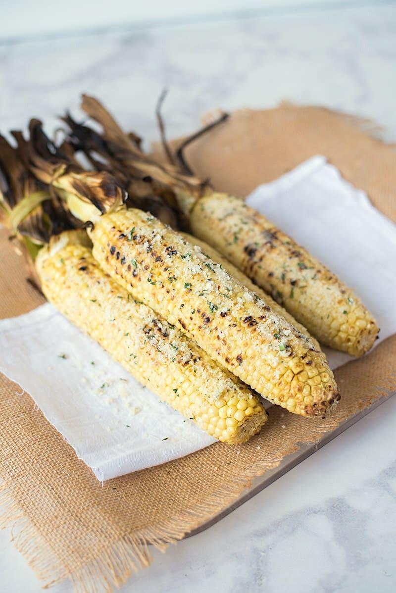 Parmesan Garlic Corn on the Cob