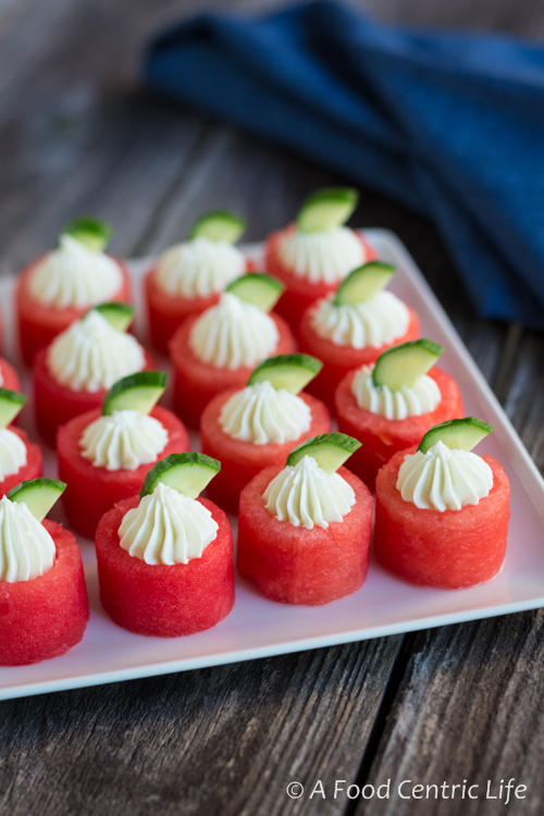 Goat Cheese Watermelon Apps