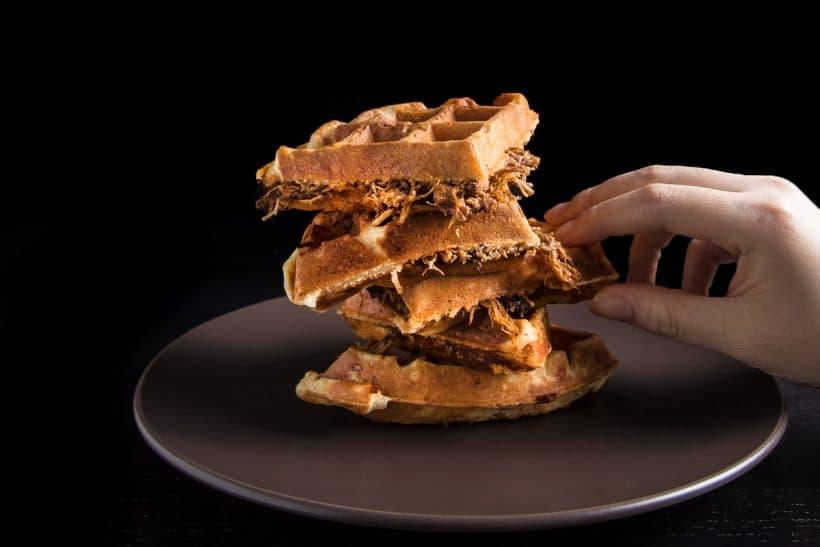 Pulled Poke Waffles