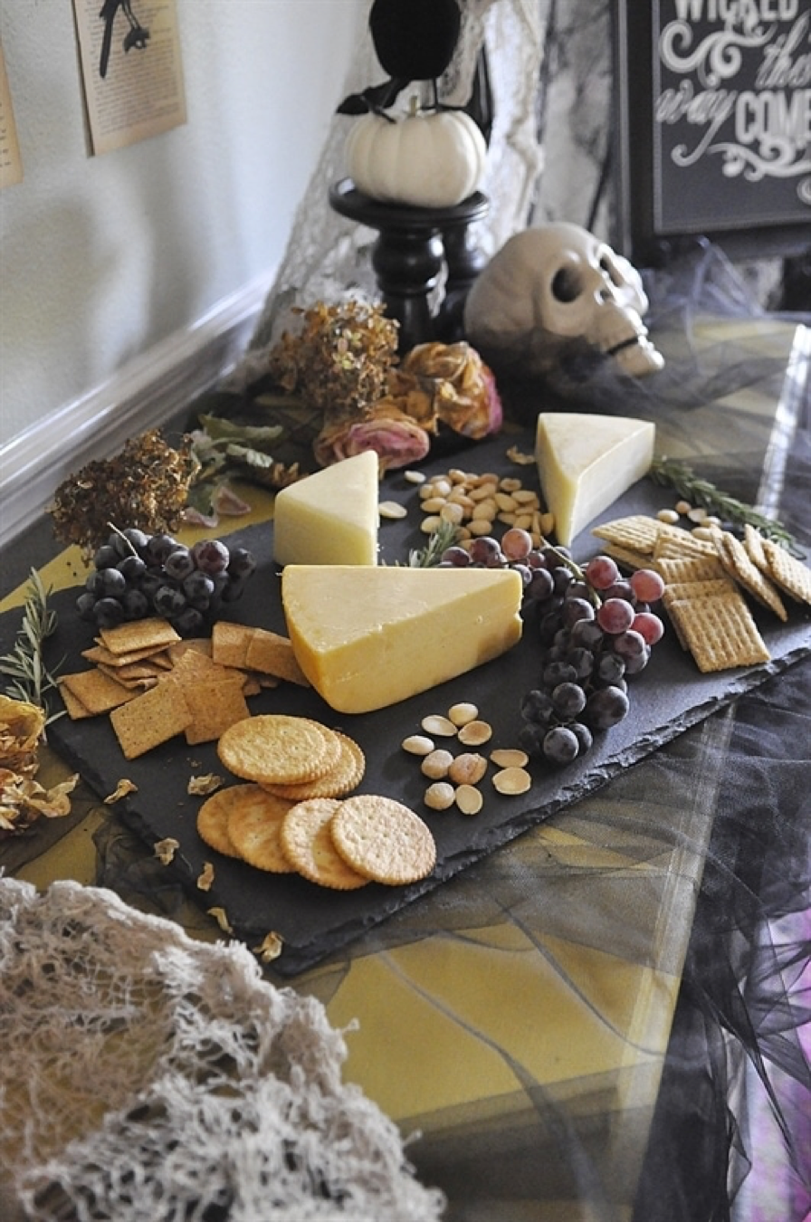 Spooky Cheese Platter