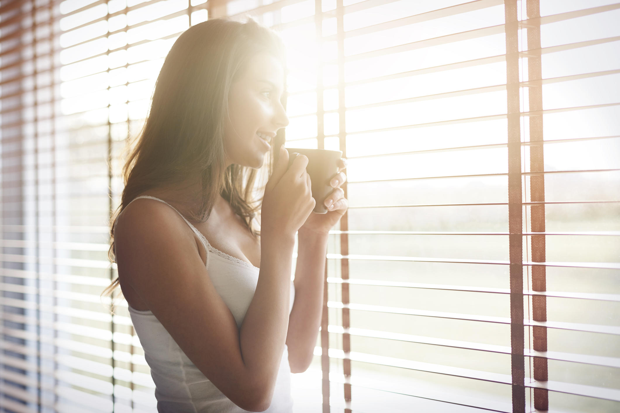 Morning sunshine and good coffee for start a day