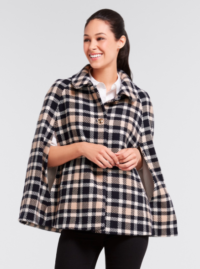 Draper James Plaid Cape
