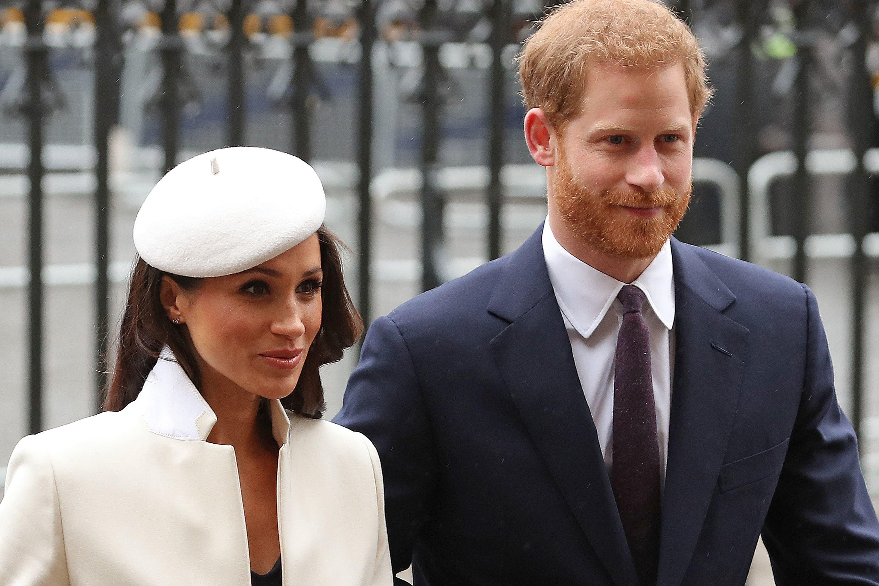 Britain's Prince Harry (R) and his fiancee US actress Meghan Markle attend a Commonwealth Day Service at Westminster Abbey in central London, on March 12, 2018.<br />Britain's Queen Elizabeth II has been the Head of the Commonwealth throughout her reign. Organised by the Royal Commonwealth Society, the Service is the largest annual inter-faith gathering in the United Kingdom. / AFP PHOTO / Daniel LEAL-OLIVAS        (Photo credit should read DANIEL LEAL-OLIVAS/AFP/Getty Images)