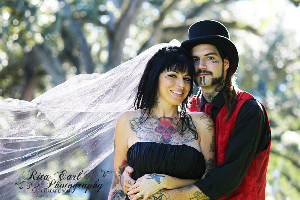 wedding album tania and perry hitched pit bulls and