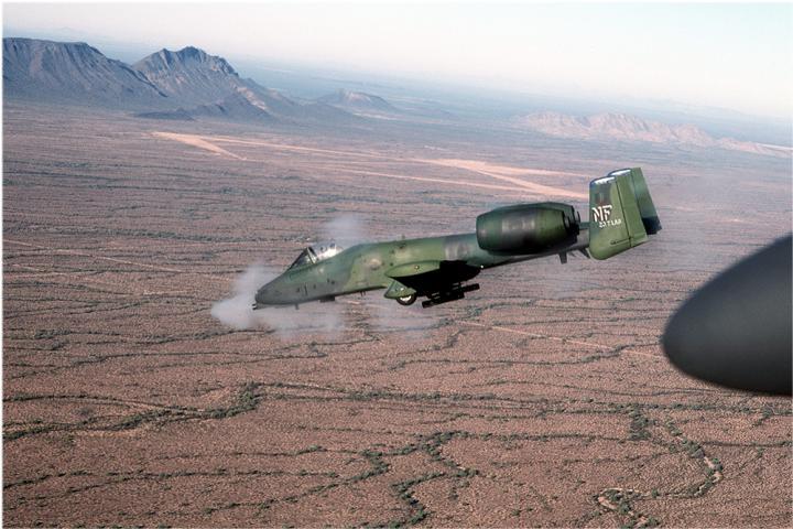 A-10 Warthog Firing