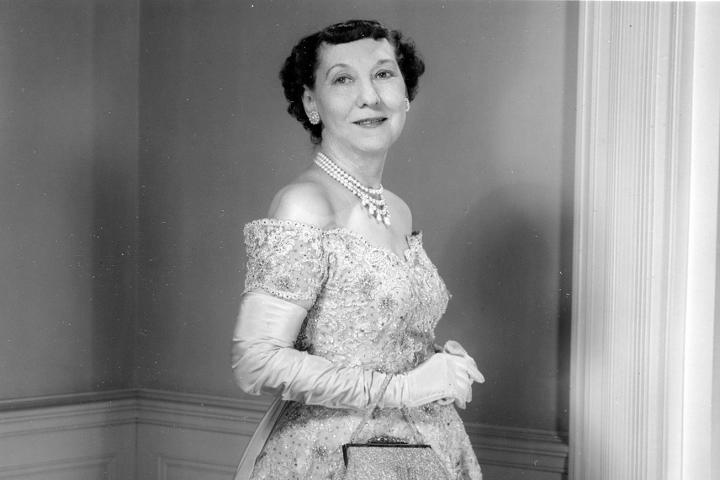 first lady fashion Mamie Eisenhower, Inauguration Gown