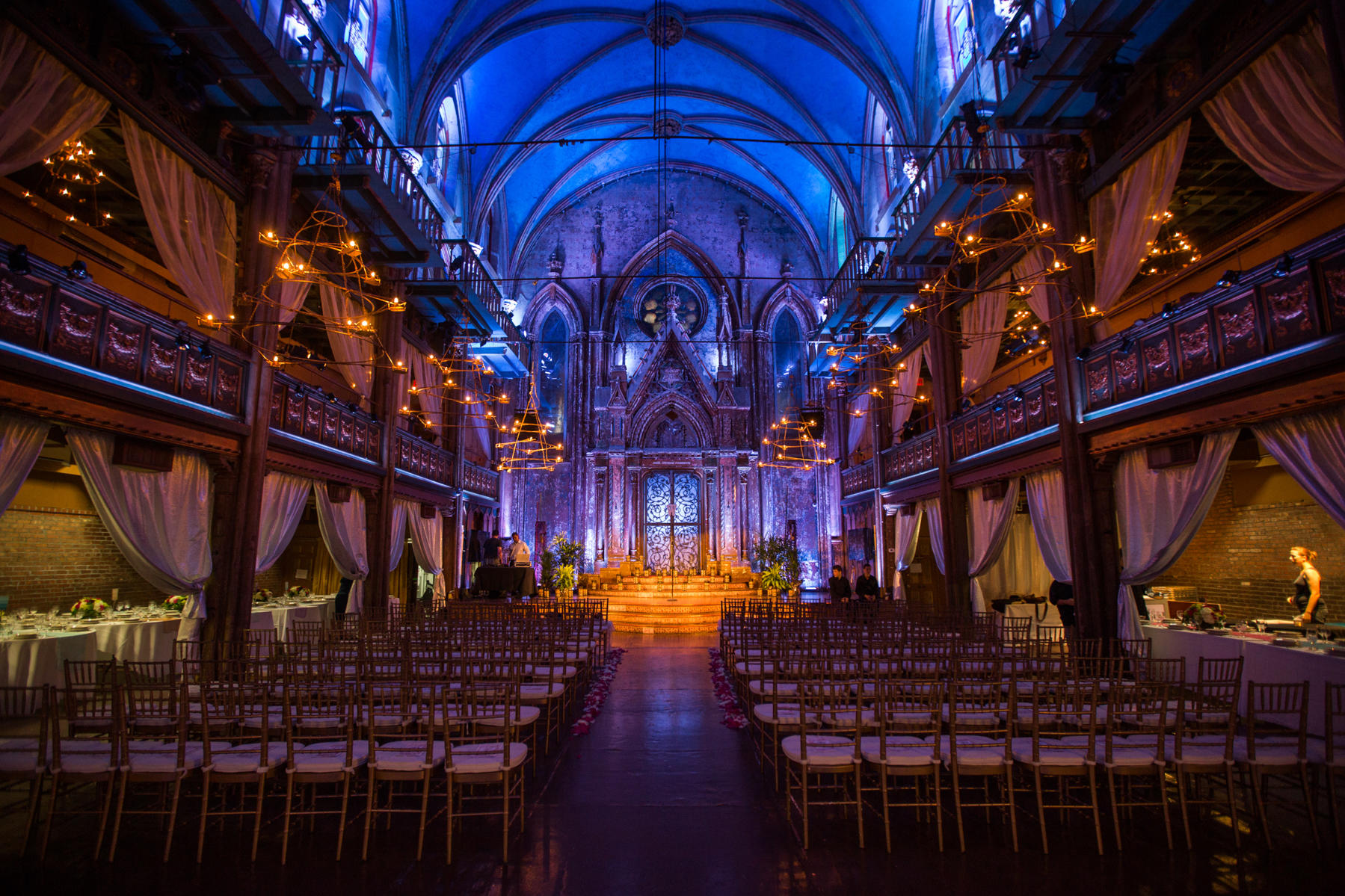 Andrea and Patrick's wedding took place at the Angel Orensanz Foundation for Contemporary Art in New York City.