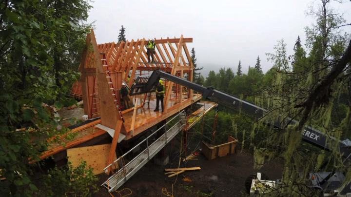 Timelapse MtMcKinley Princess Wilderness Lodge Treehouse Masters