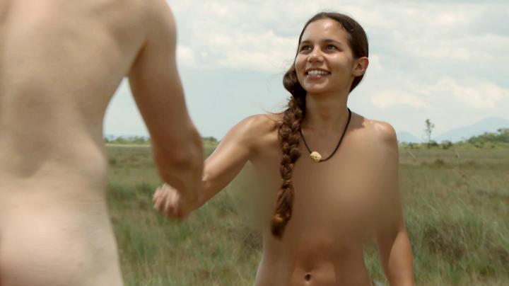 scared girl naked peeing