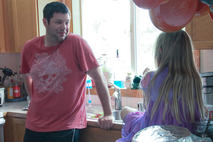 Brett spends time with his daughter, Cassidy, who's visiting for the summer.