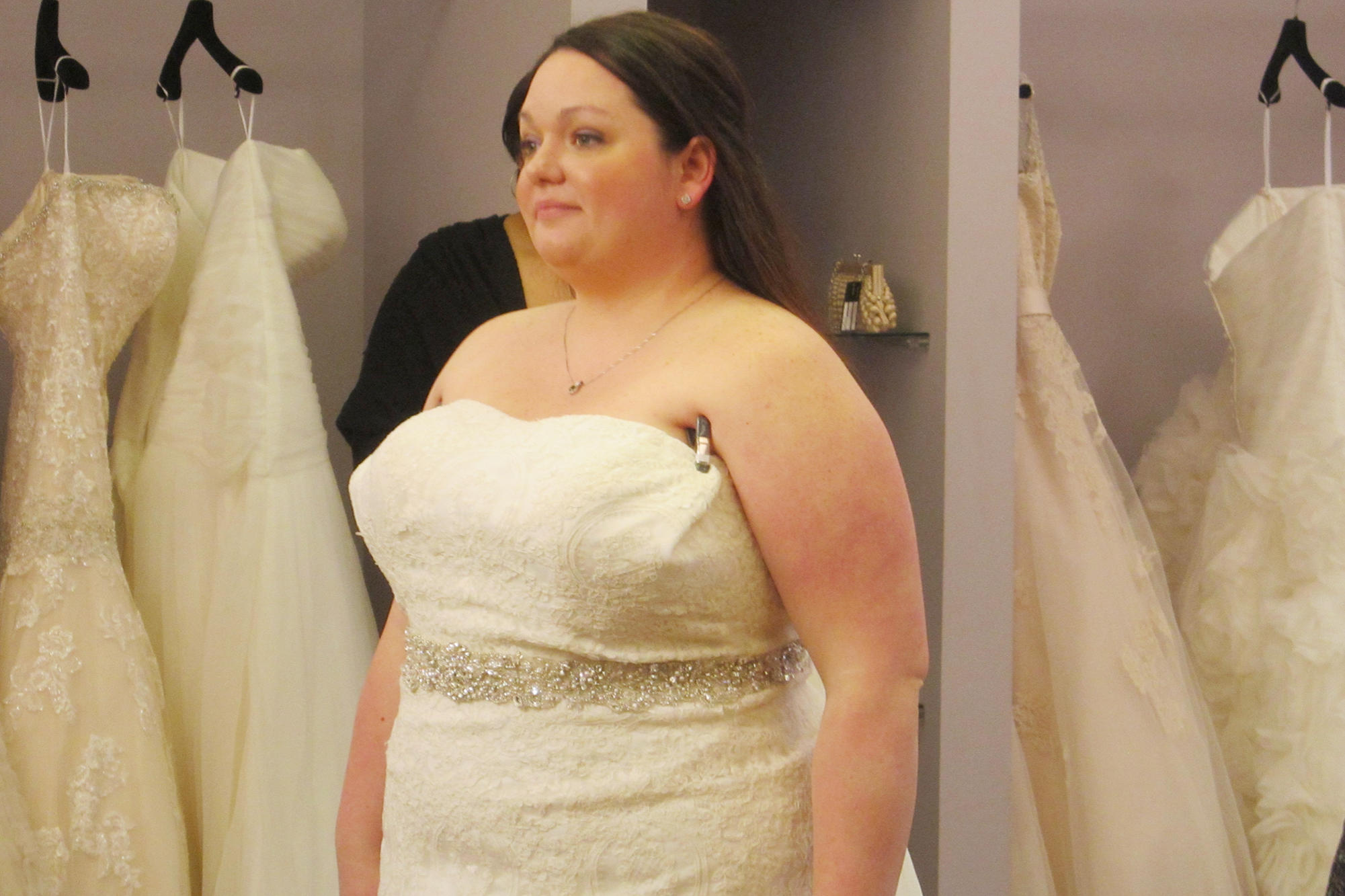 Plus size wedding dresses from curvaceous couture curvy for Best wedding dresses for short fat brides