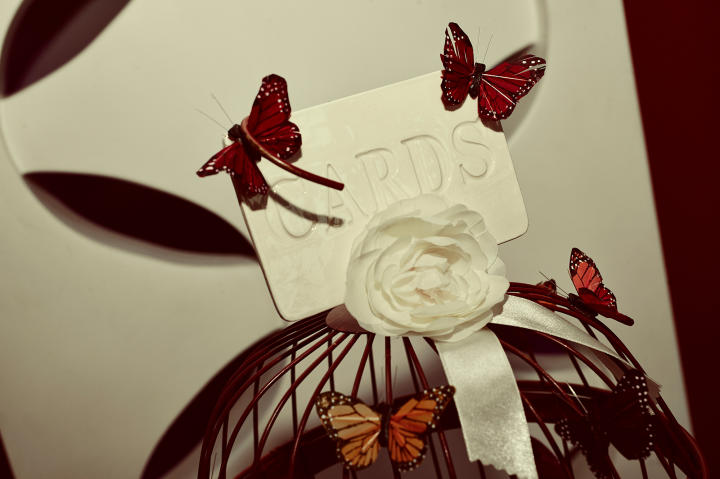 Bianca's butterfly theme showed throughout the wedding ceremony and reception.