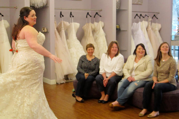 Plus-size brides can't wear most sample-size gowns at other bridal salons, so that's what makes their experience at Curvaceous Couture so satisfying -- they can try on dresses that fit!