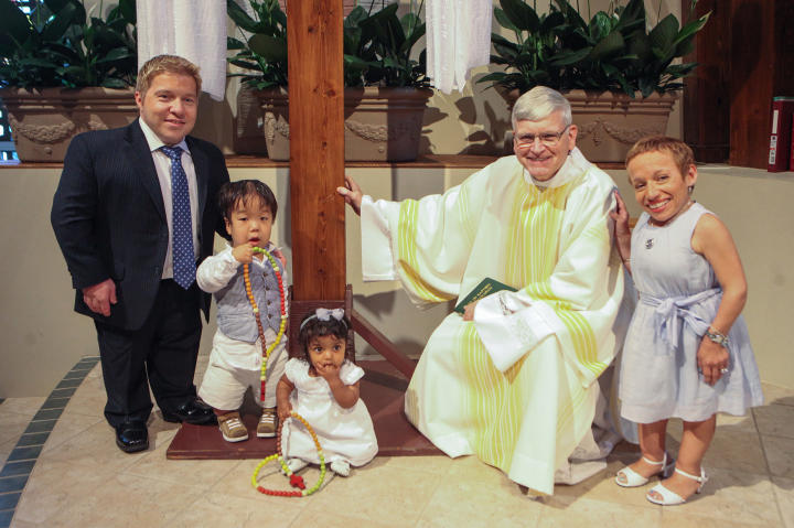 """Bill and Jen have relied on their faith during hard times, and sharing it with their children is important. """"Being parents is a new way to live,"""" Bill says."""