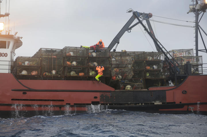 The Seabrooke loaded with crab pots.