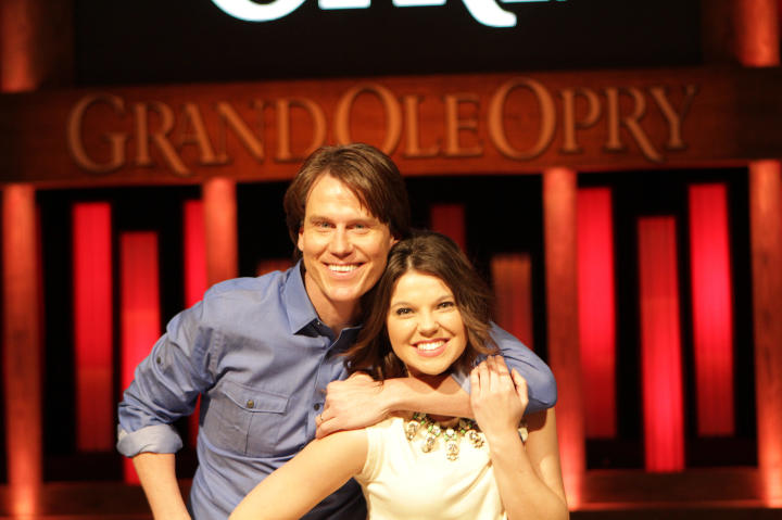 Music producer Jamie Slocum gives Amy a tour of the Grand Ole Opry.